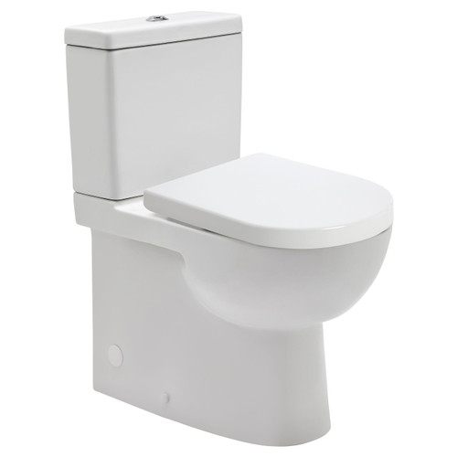 Toledo Xtra Height Rimless Ftw Toilet Suite Incl Esti Sc Seat & Std Cnctr [198870]