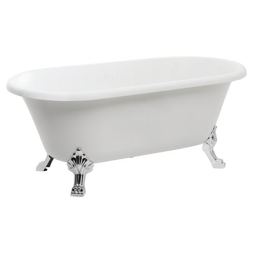 Colonial Freestanding Acrylic Bath 1522X755X430 Incl Chr Legs & Pop-Down Waste [198839]
