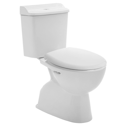 Colonial Ii C/C Toilet Suite P Trap Incl White Sc Seat [198648]