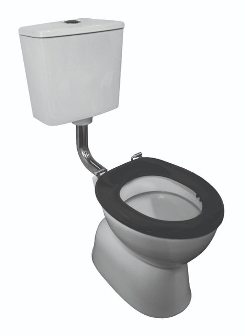 Plaza School-Wise Ambulant Deluxe Vc Link Toilet Suite S Trap With Grey Seat & Ch Button [198658]