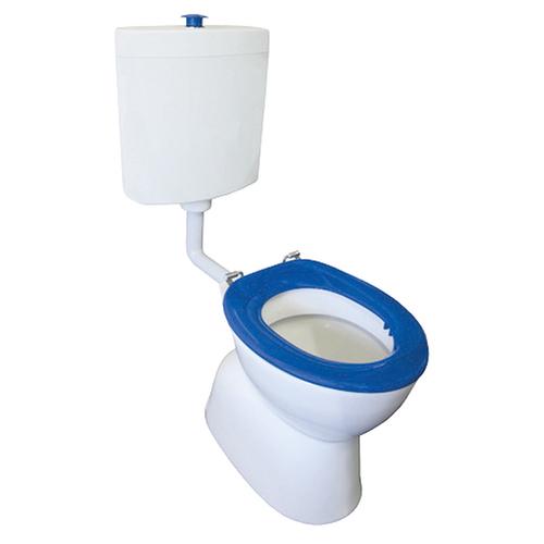 Select Assist Dlxe Plastic Link Toilet Suite S Trap Incl Blue Sf Seat/ Raised Ch/Button [198664]