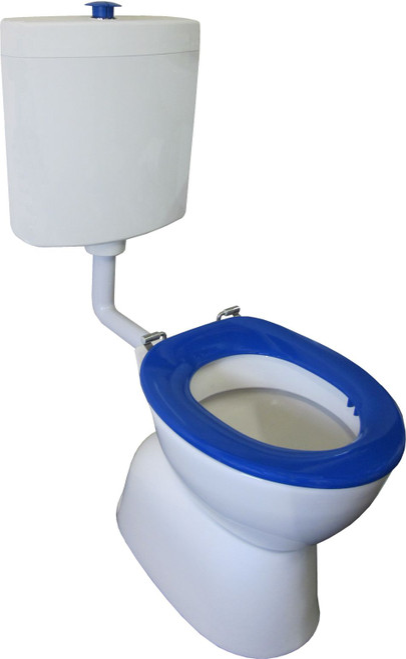 Select Assist Dlxe Plastic Link Toilet Suite S Trap Incl Blue Sf Seat/ Raised Bl/Button [198665]