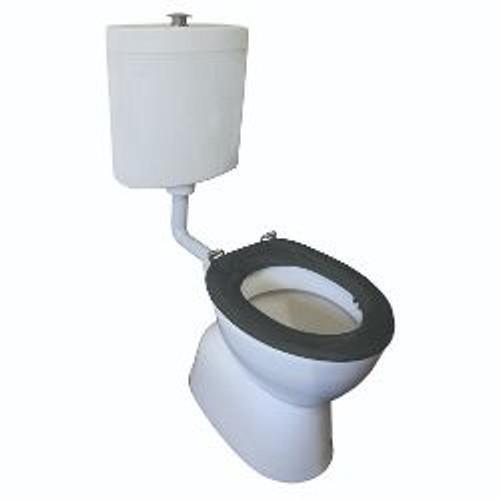 Select Assist Dlxe Plastic Link Toilet Suite S Trap Incl Grey Sf Seat/ Raised Ch/Button [198666]