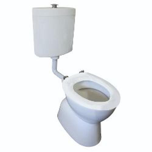 Select Assist Dlxe Plastic Link Toilet Suite S Trap Incl White Sf Seat/ Raised Ch/Button [198667]