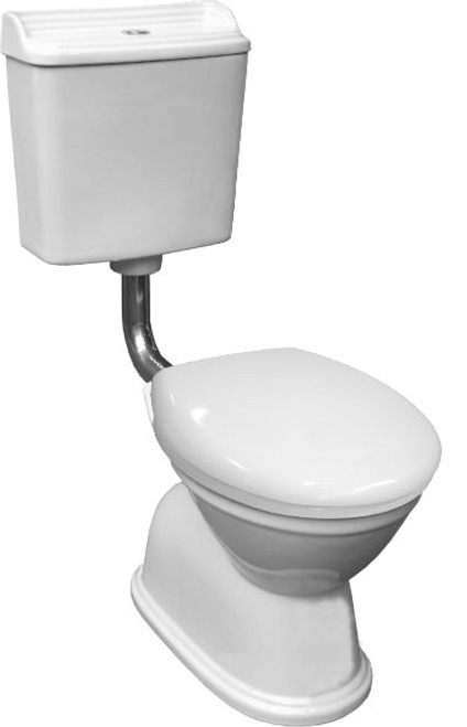 Colonial Feature Toilet Suite S Trap Chrome (White Seat) [198670]