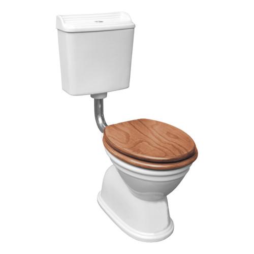 Colonial Feature Toilet Suite S Trap Oak Chrome [198671]