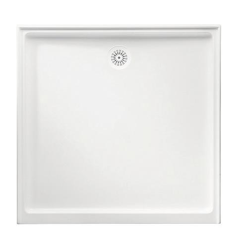 Flinders Polymarble Base 900X900 R/O Wh 3-Sided [053559]