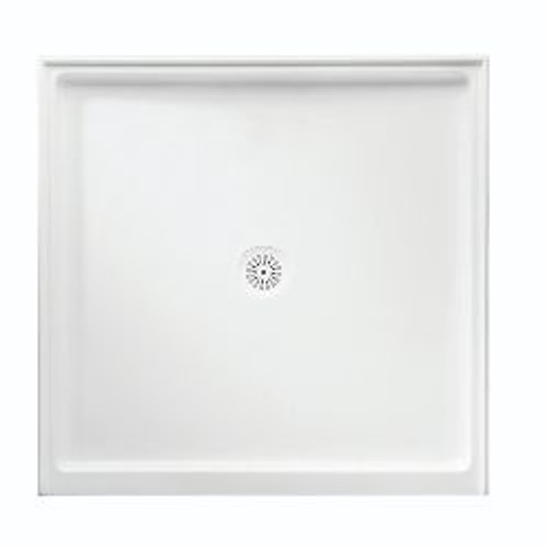 Flinders Polymarble Base 820X820 R/O Wh 3-Sided [053573]