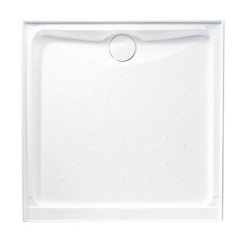 Evo Polymarble Base 1000X1000 R/O Wh 3-Sided Anti-Slip [053847]