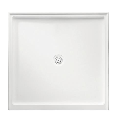 Flinders Polymarble Base 900X900 C/O Wh Dbl-Entry [053640]