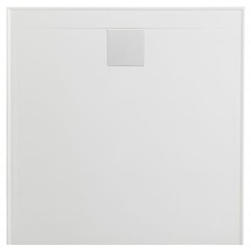 Flinders New Polymarble Base 900X900 R/O Lh/Rtn Incl Sq Dome White [181387]