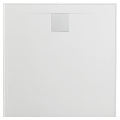 Flinders New Polymarble Base 900X900 R/O Lh/Rtn Incl Sq Dome White [181387]