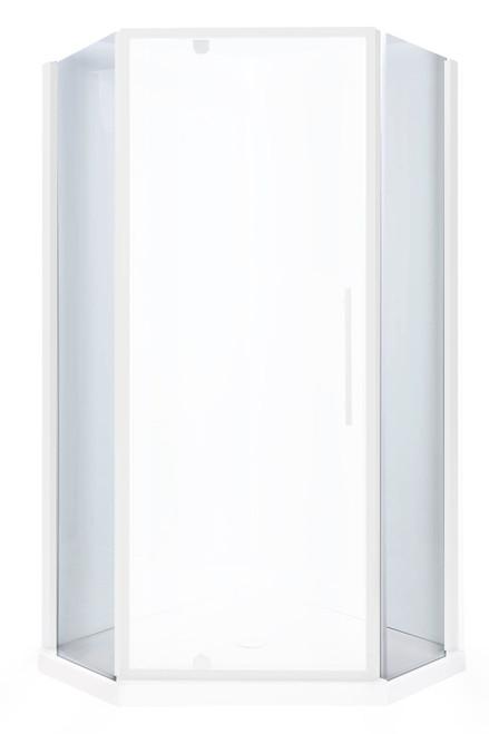 Flinders Neo Screen Corner 900mm Return Chrome - Door to be ordered separately [198941]
