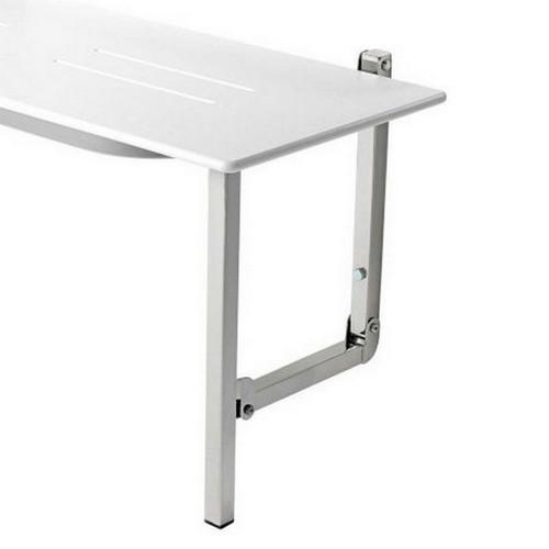 Virtu Round Edge Comfort Shower Seat 960x480mm White [153415]