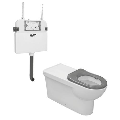 Life Assist Air Wf Econoflush Toilet Suite Incl Grey Seat & Stnd Cnctr [198693]