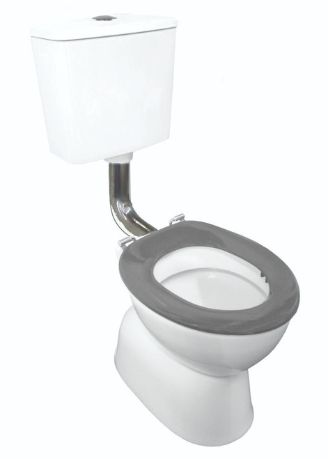 Plaza School-Wise Vc Link Toilet Suite S Trap With Grey Seat & Ch Button [201251]
