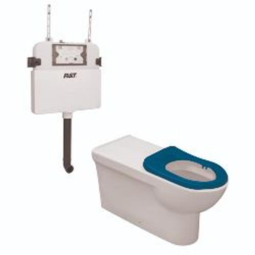 Life Assist Air Wf Econoflush Toilet Suite Incl Blue Seat & Stnd Cnctr [201252]