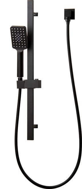 Chai (Mixx Square) Rail Shower Matt Black Wels 3 Star [250033]