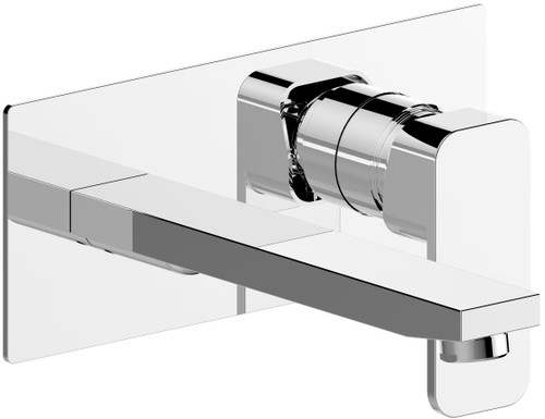 Lily Wall Plate Mixer Chrome [250086]