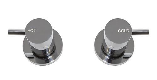 Spruce (Dahlek) Lever 1/4 Turn C/Disc Wall Stops Set Chrome (Pr) [250102]