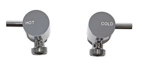Spruce (Dahlek) Lever 1/4 Turn C/Disc Washing Machine Taps Chrome [250103]