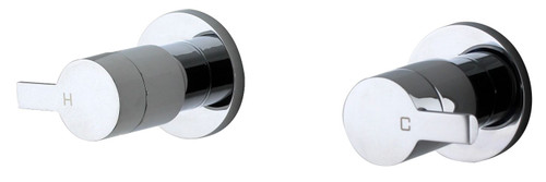 Cocoa (Amane) Lever 1/4 Turn C/Disc Wall Stops Set Chrome (Pr) [250112]