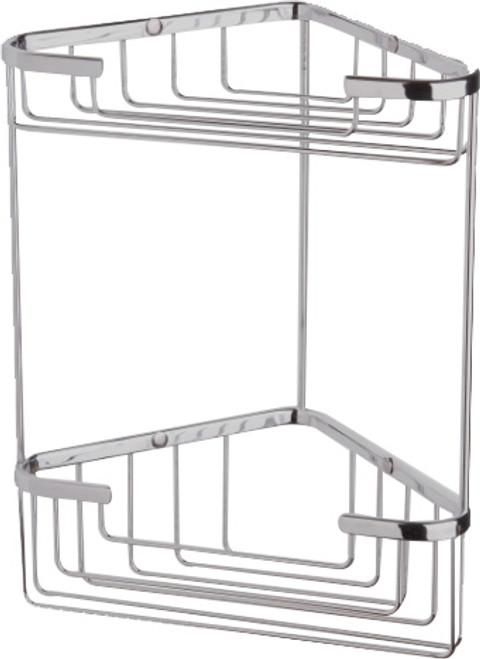 Double Corner Shower Basket Chrome [250223]
