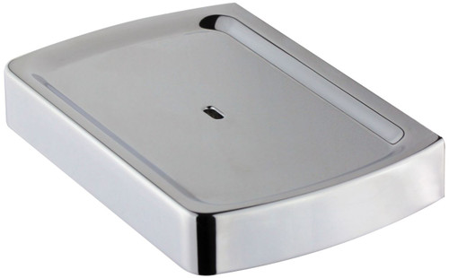 Sandalwood (Surrey) Square Soap Dish Chrome [250263]