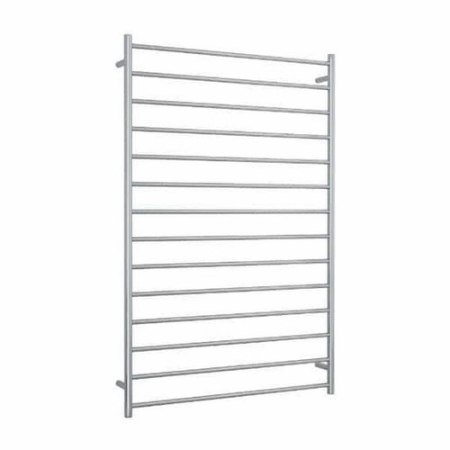 Thermorail Straight Round Heated Towel Ladder 244W 14 Bar 1000 x 1500mm Polished Stainless Steel [141901]
