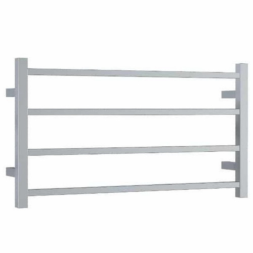 Thermorail Straight Square Heated Towel Ladder 61W 4 Bar 800 x 440mm Polished Stainless Steel [141902]