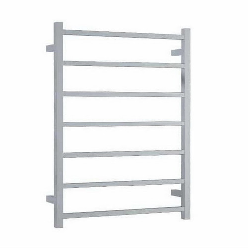 Thermorail Straight Square Heated Towel Ladder 83W 7 Bar 600 x 800mm Polished Stainless Steel [141905]