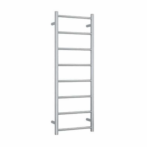 Thermorail Straight Round Heated Towel Ladder 65W 8 Bar 400 x 1120mm Polished Stainless Steel [141907]