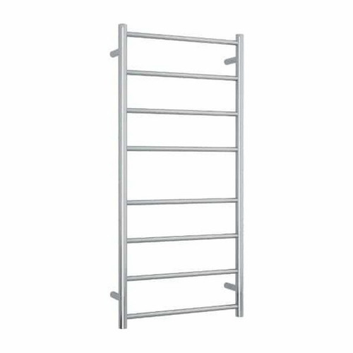 Thermorail Straight Round Heated Towel Ladder 80W 8 Bar 530 x 1120mm Polished Stainless Steel [141908]