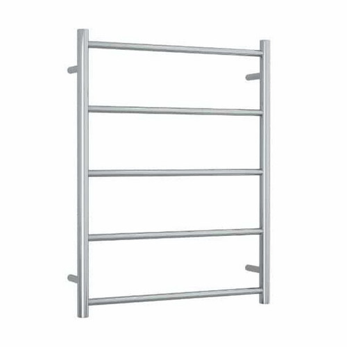 Thermorail Straight Round Towel Ladder 5 Bar 630 x 800mm Polished Stainless Steel [141909]