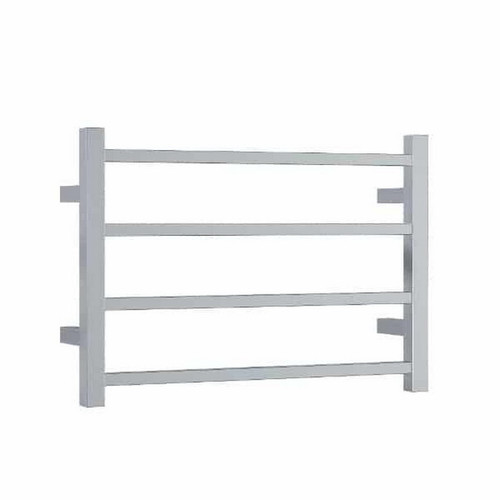 Thermorail Straight Square Heated Towel Ladder 47W 4 Bar 600 x 420mm Polished Stainless Steel [143304]