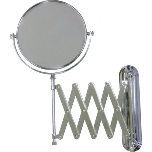 Ablaze Round Non-Lit 1&4x Magnification Mirror with Expanded Arm Chrome [129567]