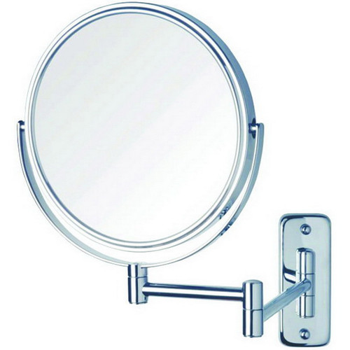 Ablaze Round Non-Lit 1&5x Magnification Mirror with Swivel Arm Chrome [129568]