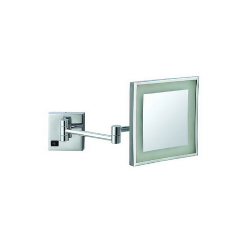 Ablaze Square Lit 3x Magnification Mirror with LED Light Chrome [129571]