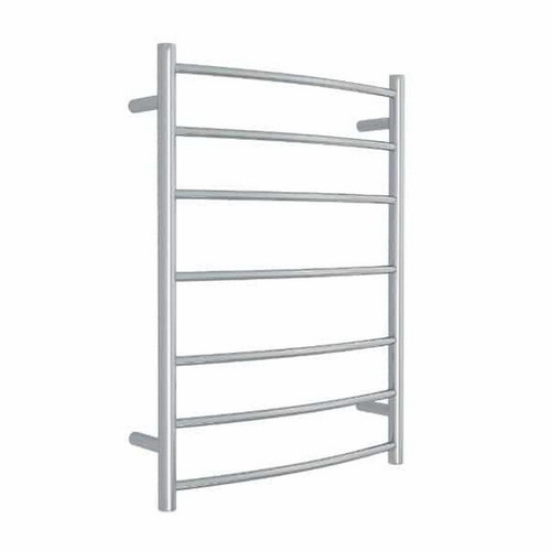 Thermorail Curved Round Budget Heated Towel Ladder 80W 7 Bar 600 x 800mm Polished Stainless Steel [129580]