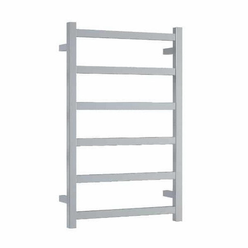 Thermorail Straight Square Budget Heated Towel Ladder 81W 6 Bar 500 x 800mm Polished Stainless Steel [129581]