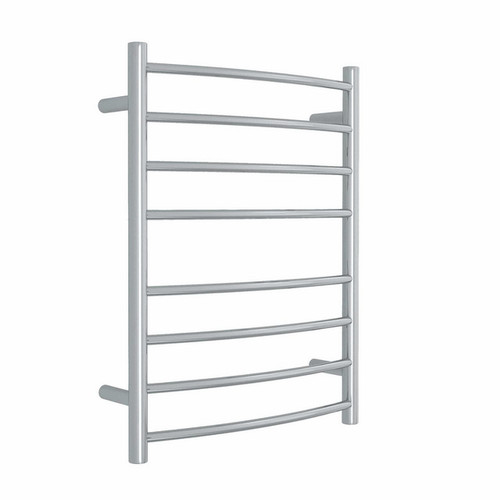 Thermorail Curved Round Heated Towel Ladder 78W 8 Bar 530 x 700mm Polished Stainless Steel [129583]
