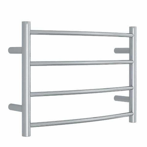 Thermorail Curved Round Heated Towel Ladder 45W 4 Bar 600 x 420mm Polished Stainless Steel [129585]