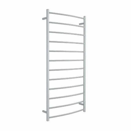 Thermorail Curved Round Heated Towel Ladder 153W 12 Bar 700 x 1400mm Polished Stainless Steel [129586]