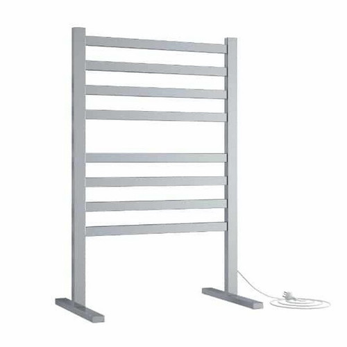 Thermorail Straight Flat Freestanding Heated Towel Ladder 119W 8 Bar 590 x 900mm Polished Stainless Steel [129587]