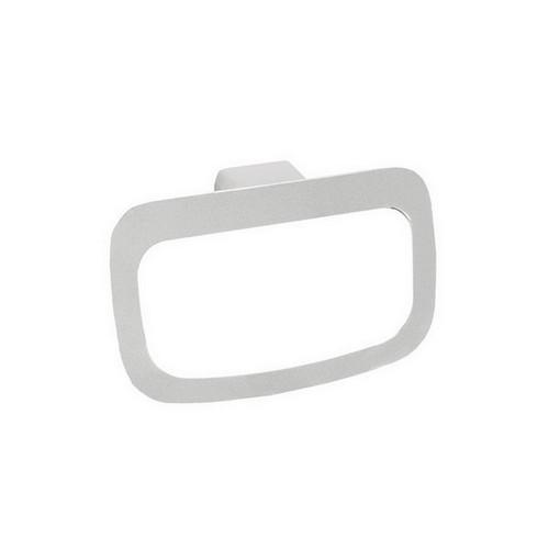 Manhattan Towel Ring Gloss White & Chrome [151022]