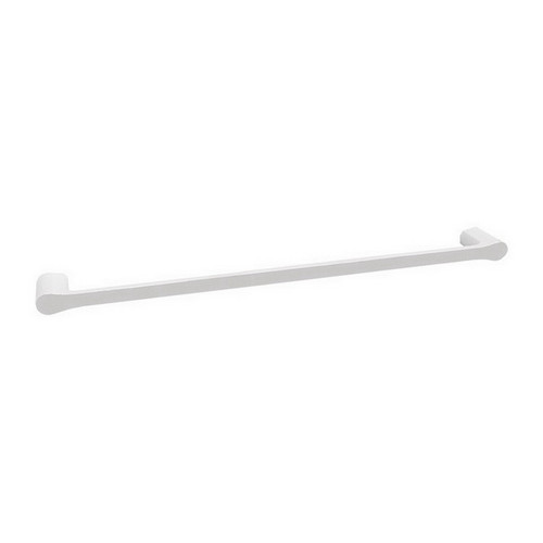 Manhattan Single Towel Rail 600mm Gloss White & Chrome [151023]