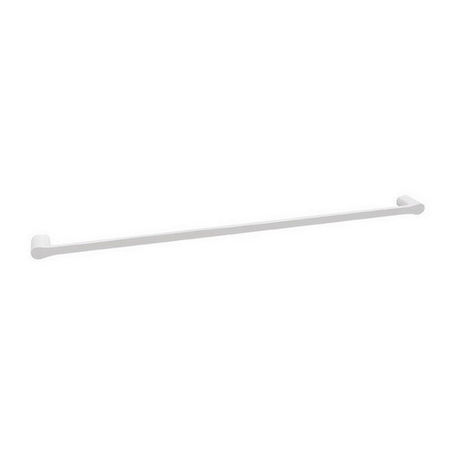 Manhattan Single Towel Rail 900mm Gloss White & Chrome [151024]