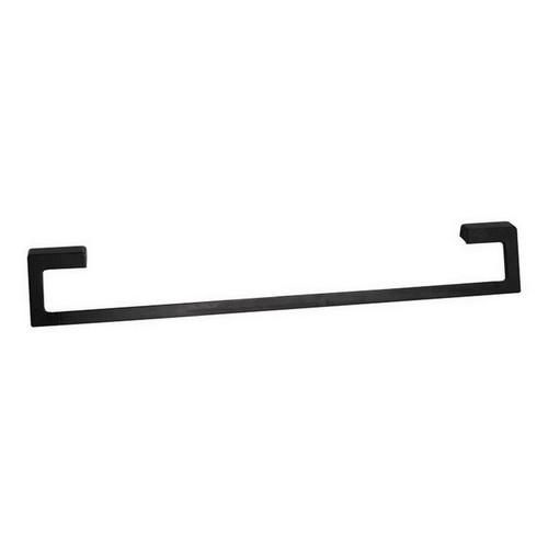 Time Square Single Towel Rail 600mm Matte Black [151066]