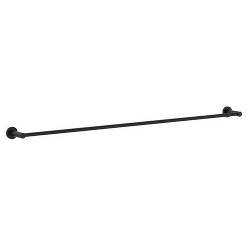 Round Single Towel Rail 900mm Matte Black [156488]