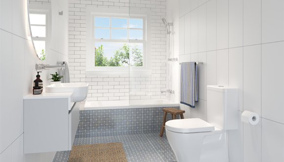 Play Up a Classic White Bathroom